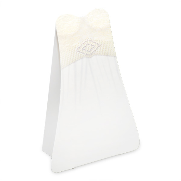 Bride Dress Box Ivory Lace with Diamanté