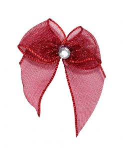 Self Adhesive Burgundy Diamanté Bows