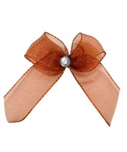 Self Adhesive Copper Diamanté Bows