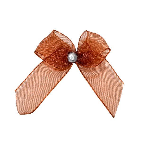 Self Adhesive Copper Diamanté Bows