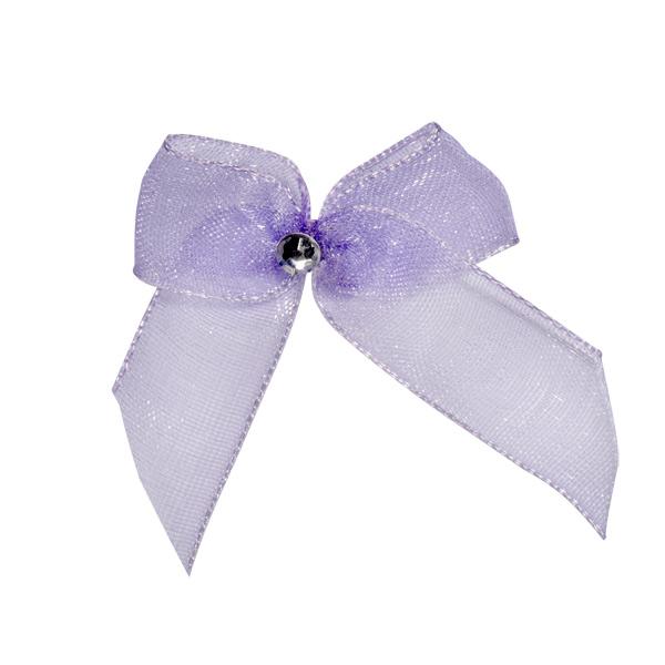 Self Adhesive Lilac Diamanté Bows