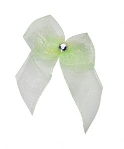 Self Adhesive Lime Diamanté Bows