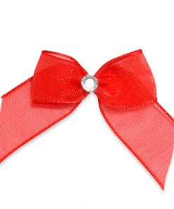 Self Adhesive Red Diamanté Bows