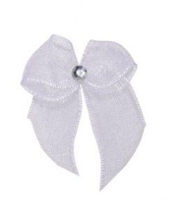 Self Adhesive White Diamanté Bows
