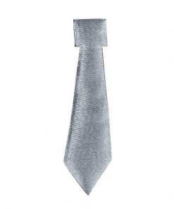 Self Adhesive Silver Satin Ties