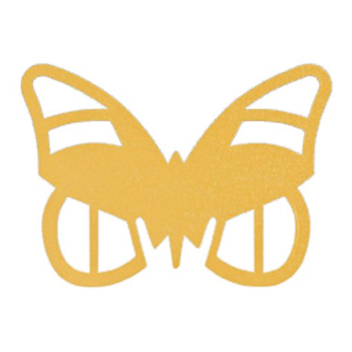 Paper Butterfly Place Cards - Gold