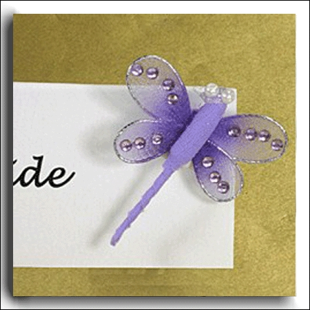 Lilac Fabric Dragonfly