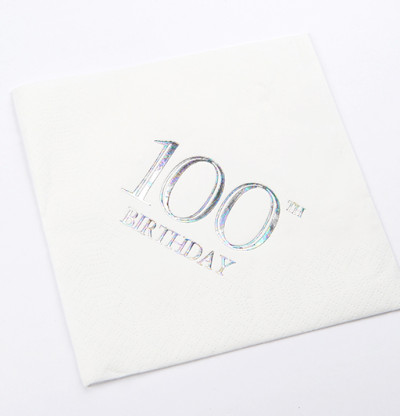 100th Birthday Luncheon Napkins