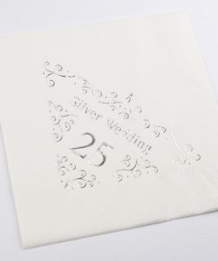 25th Anniversary Napkins Dinner