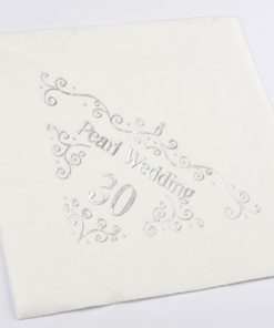 30th Anniversary Napkins Dinner