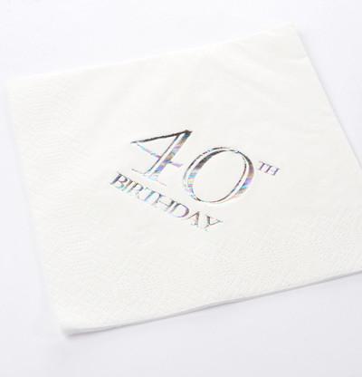40th Birthday Luncheon Napkins