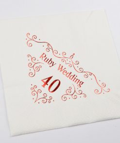40th Anniversary Napkins Dinner