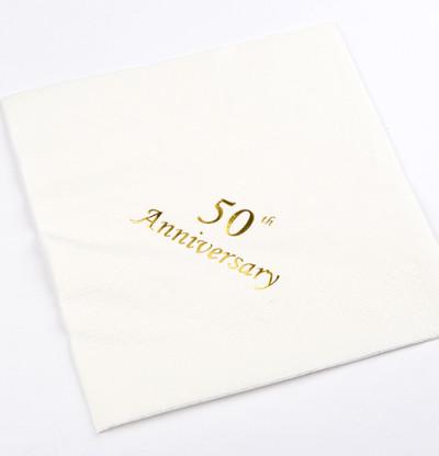 50th Anniversary Napkins Luncheon
