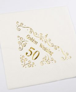 50th Anniversary Napkins Dinner