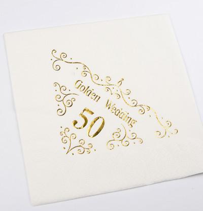 50th Anniversary Napkins Dinner