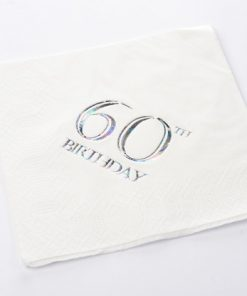 60th Birthday Luncheon Napkins