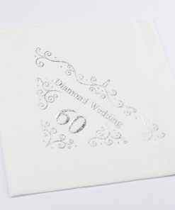 60th Anniversary Napkins Dinner