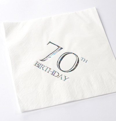 70th Birthday Luncheon Napkins