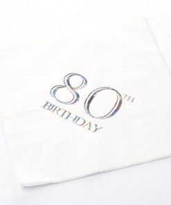 80th Birthday Luncheon Napkins