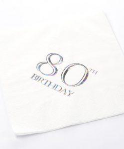 80th Birthday Luncheon Napkins