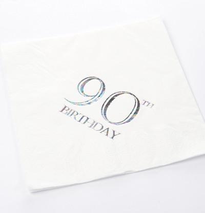 90th Birthday Luncheon Napkins
