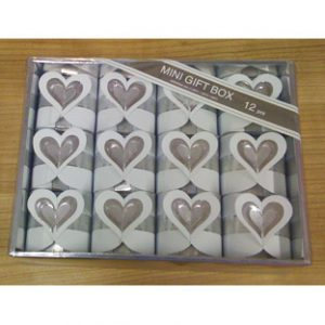 Square Box with Heart White/Silver