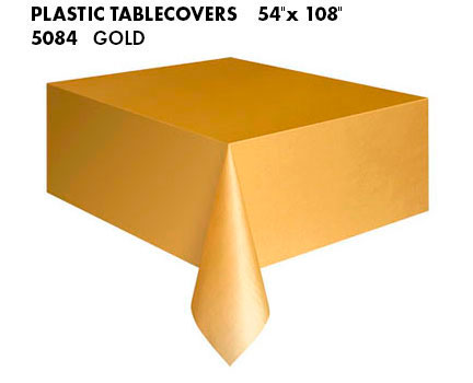 Oblong Tablecloth - Gold