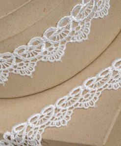 35mm Ivory Scalloped Lace