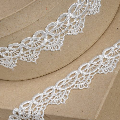 35mm Ivory Scalloped Lace