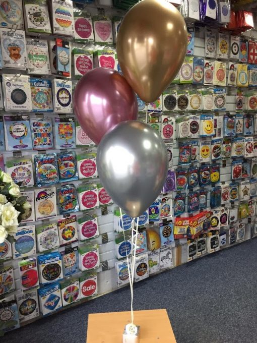 Three Balloon Chrome Display