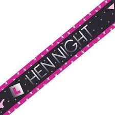 Hen Night Foil Banner