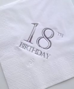 18th Birthday Luncheon Napkins