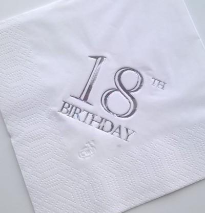 18th Birthday Luncheon Napkins