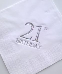 21st Birthday Luncheon Napkins