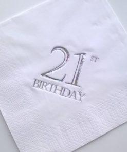 21st Birthday Luncheon Napkins
