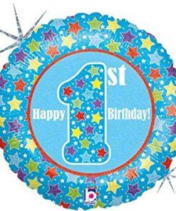 """18"""" First Birthday Boy Foil"""