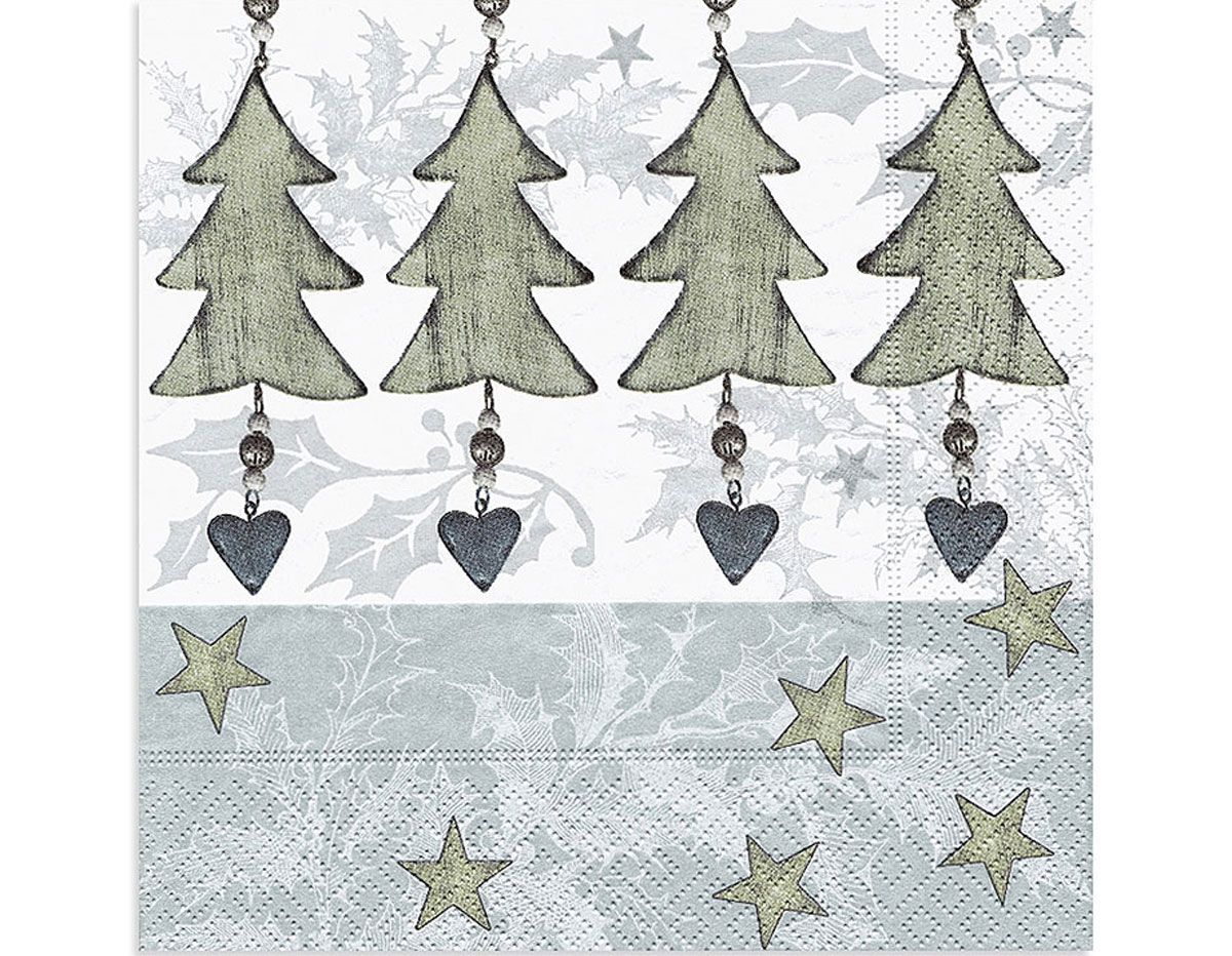 Paper + Design Four Tree Pendants Lunch Napkins
