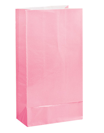 Paper Party Bags Pastel Pink