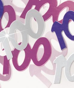 Pink '100' Foil Age Confetti