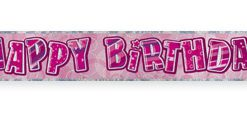 Pink Happy Birthday Prism Banner
