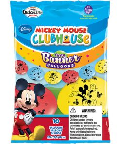 12 Inch Quick Links & Party Banner Balloons Mickey Mouse