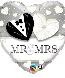 "18"" Mr & Mrs Wedding Foil"