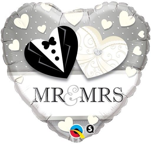 "18"" Mr & Mrs Wedding Foil"