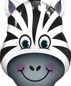 Zany Zebra Shape Foil