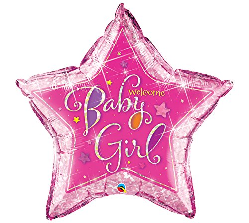 Welcome Baby Girl Stars Shape Foil