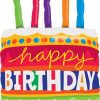 Birthday Cake & Candles Shape Foil