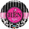 "18"" Hen Night! Damask & Stripes Foil"