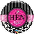 "18"" Hen Night! Damask & Stripes Foil"
