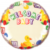 """18"""" Welcome Baby Duck's Name Foil"""