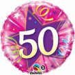 "18"" 50 Shining Star Hot Pink Foil"